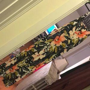 Floral print long maxi dress size 22/24